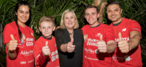 Palm House supports Run with George with personal trainer to the stars