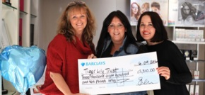 Hair salon marks anniversary and raises nearly £4,000 for Tigerlily Trust