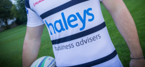 Main Shirt Sponsor of Preston Grasshoppers RFC - Haleys Business Advisers