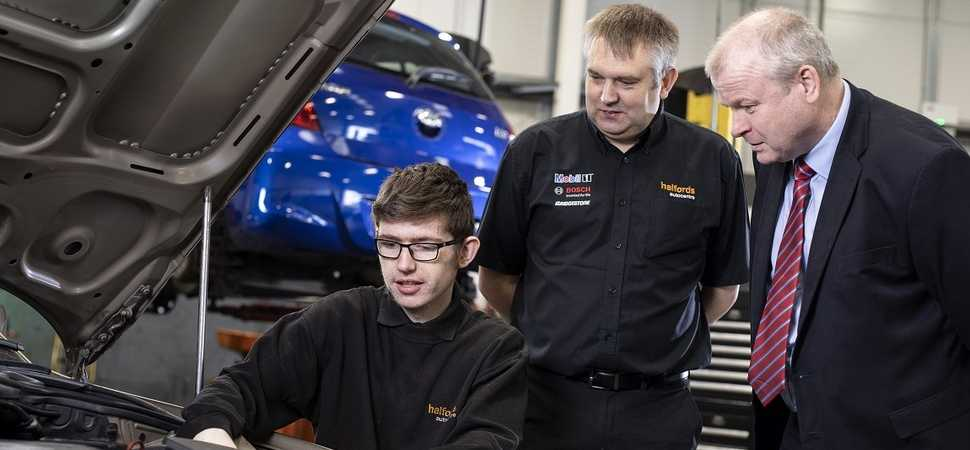 Car repair firms apprenticeship scheme hits the road