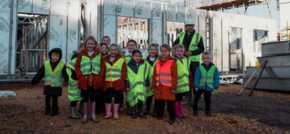 School children get a taste for a career in construction