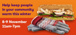 Help make a difference this winter with Gloves for Subs