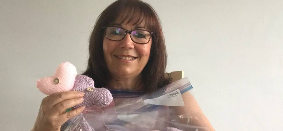 Gateshead College donate knitted hearts to hospital patients