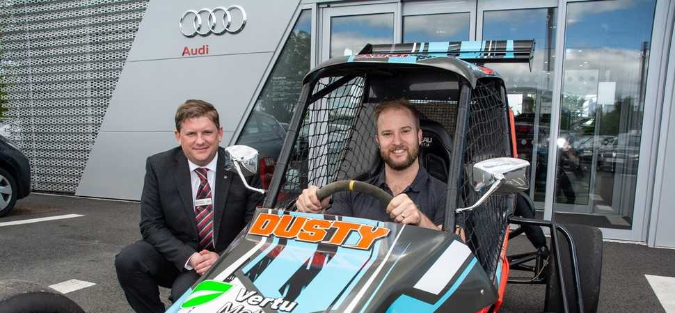 Hereford Racing Driver speeds away with Sponsorship from Hereford Audi