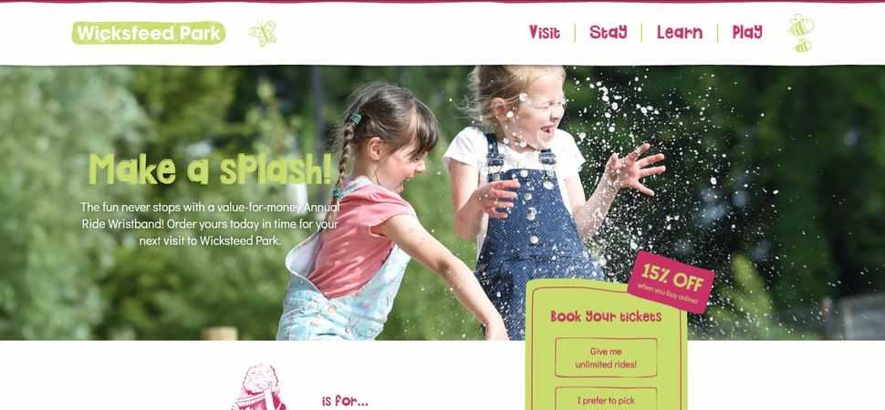Wicksteed Park's New Website Encourages People To Visit, Stay, Learn and Play