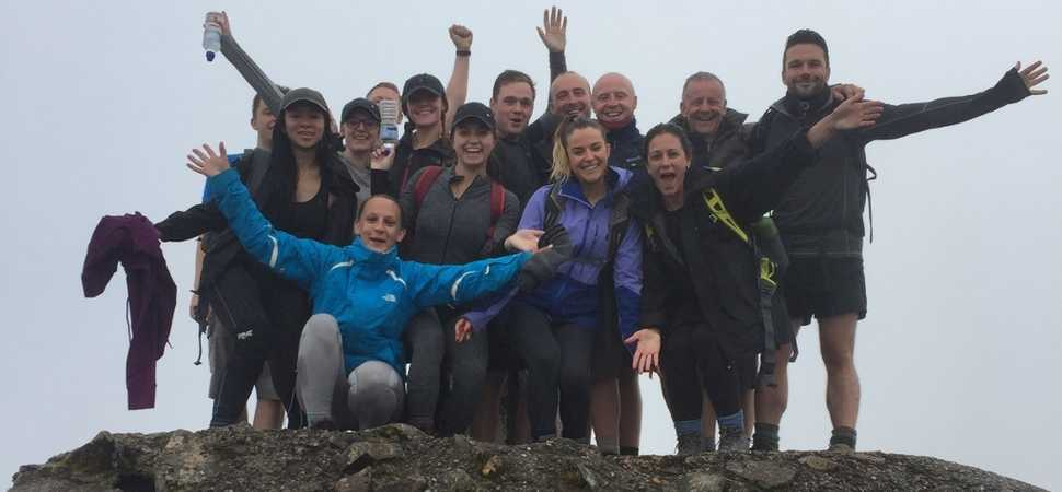 Team from HURST scale the Three Peaks for charity