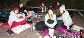 HURST staff sleep out for charity