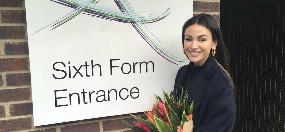 Michelle Keegan delivers drama masterclass at Altrincham College
