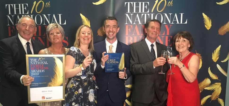 Abbott-Wade crowned National Champion at the 2019 Family Business Awards at Wembley Stadium