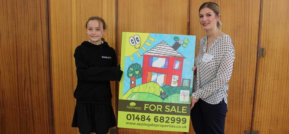 Students artwork brightens up local estate agents boards