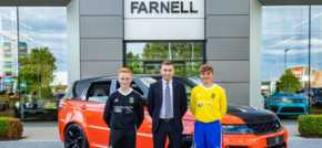 High-Flying CMB Juniors land new shirt sponsors with Farnell Jaguar Land Rover B