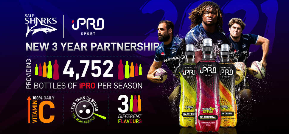 Sharks extends iPro Sport partnership until 2020