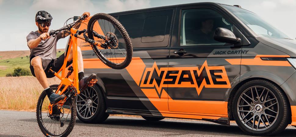 World champion mountain bike trail cyclist partners with Insane Vehicles