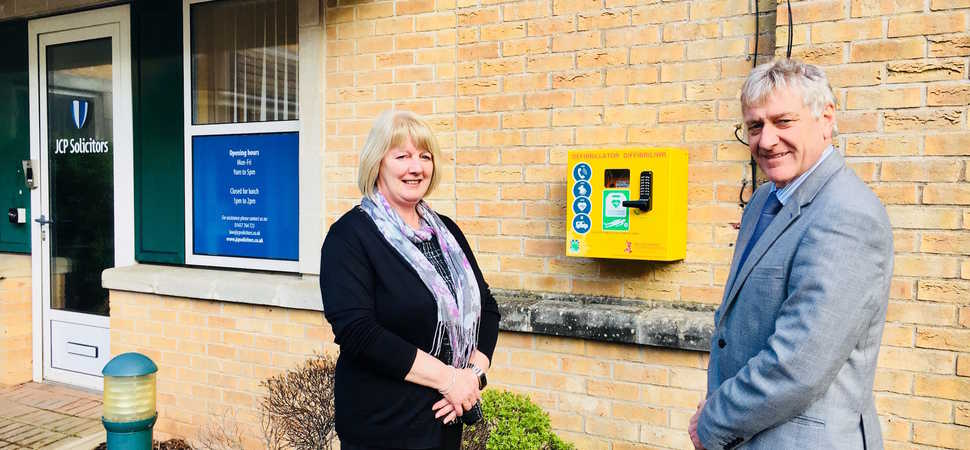 Extra Peace of Mind for Haverfordwest Thanks to JCP Solicitors Defibrillator
