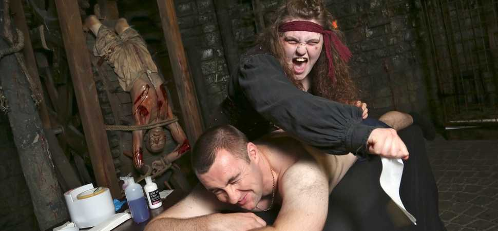 Getting beach body ready at The Blackpool Tower Dungeon