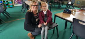 Online furniture store donates chairs to school