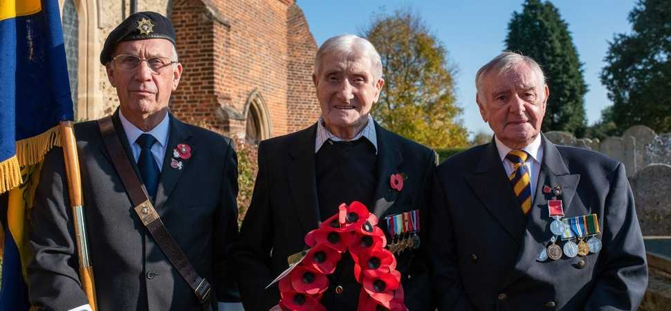 99-year-old Chelmsford care home resident plays special role in Remembrance Day service