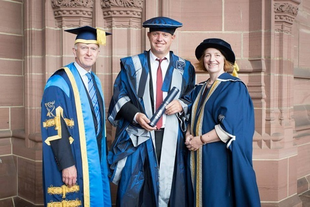 LJMU Honorary Fellowship for Urban Splash Creative Director and Co-Founder