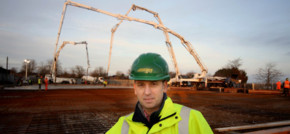 Jones Bros workers in marathon concrete pours near Chester