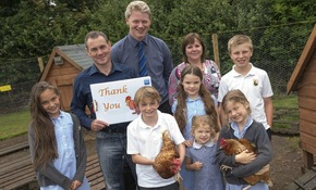School gives ex-battery hens the chance to spread their wings