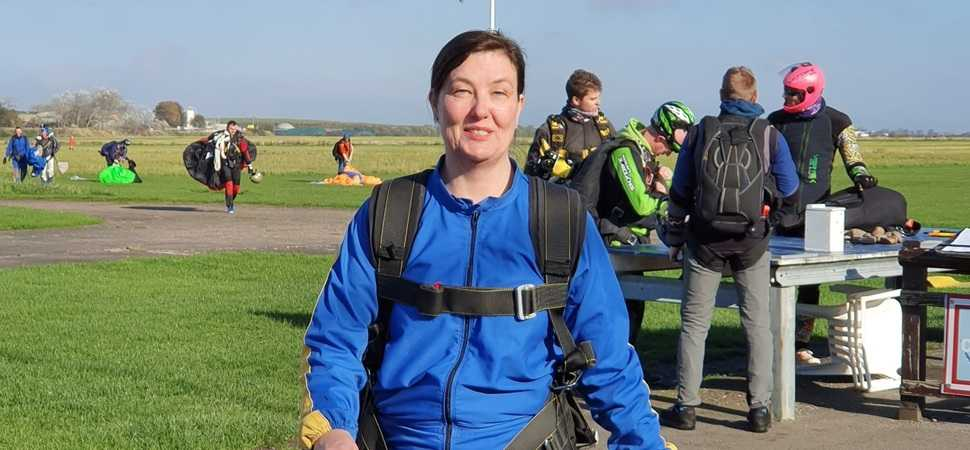 Nuneaton care home manager in sky diving fund raiser
