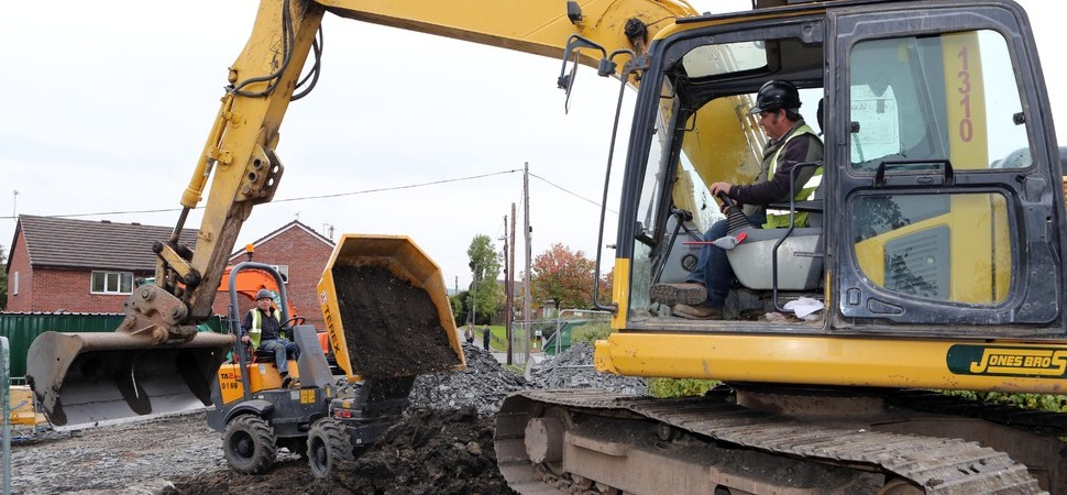 Jones Bros begin drainage project to halt flooding of Tal-y-Bont village