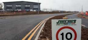 Jones Bros completes latest work on Cheshire Green Industrial Park project