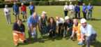 Construction firm thanked for donating car park extension for village's bowling club