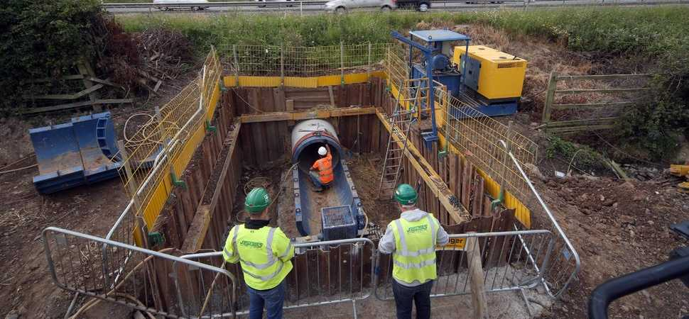 Pipejacking solution upgrades drainage while keeping traffic flowing