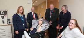 A brand new specially built bungalow makes life more comfortable for disabled te