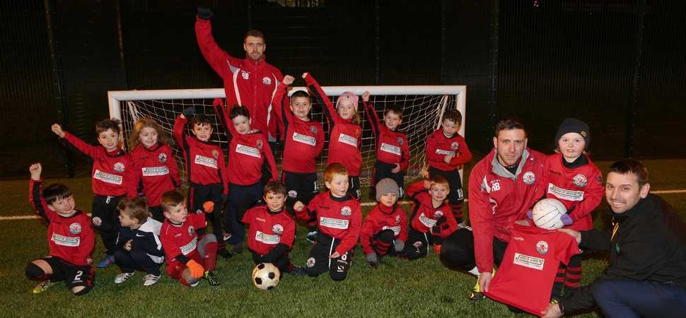 Jones Bros helps provide kit for young footballers
