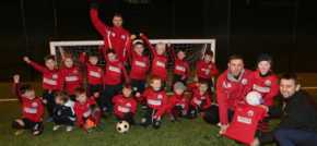 Jones Bros helps provide kit for young footballers in Corwen