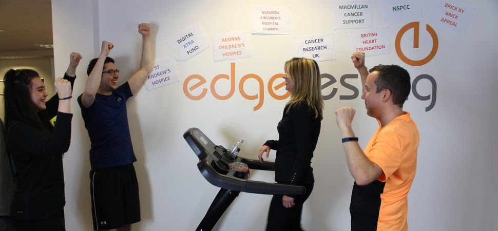 Edge Testing walks 500 miles to raise money for Acorns and other charities