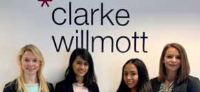 Four new trainees for Clarke Willmott's Manchester office