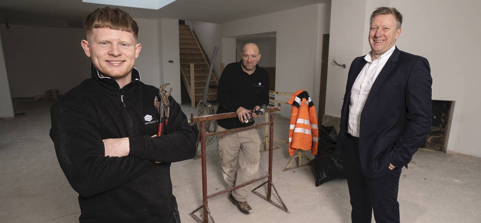 New apprentice first of many for full service construction firm Sands Group UK