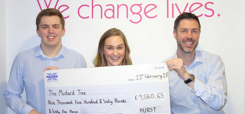 HURST staff raise over £9,000 for Mustard Tree