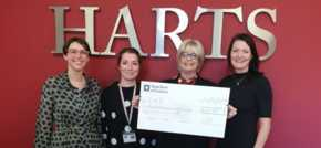 Ladies in Business present Macclesfield Charity Cre8 with cheque
