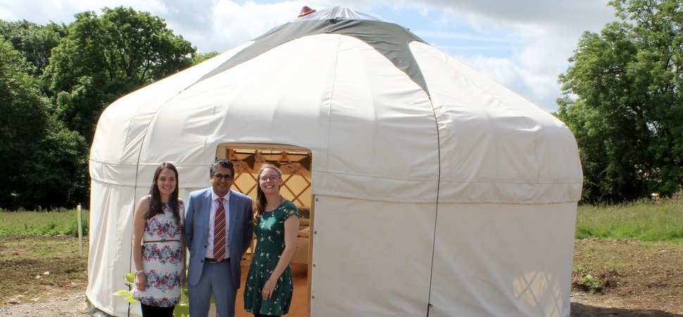 Northamptonshire yurt glamping business launches