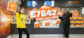 The Wrights move as charity carrier bag initiative raises thousands for Dougie