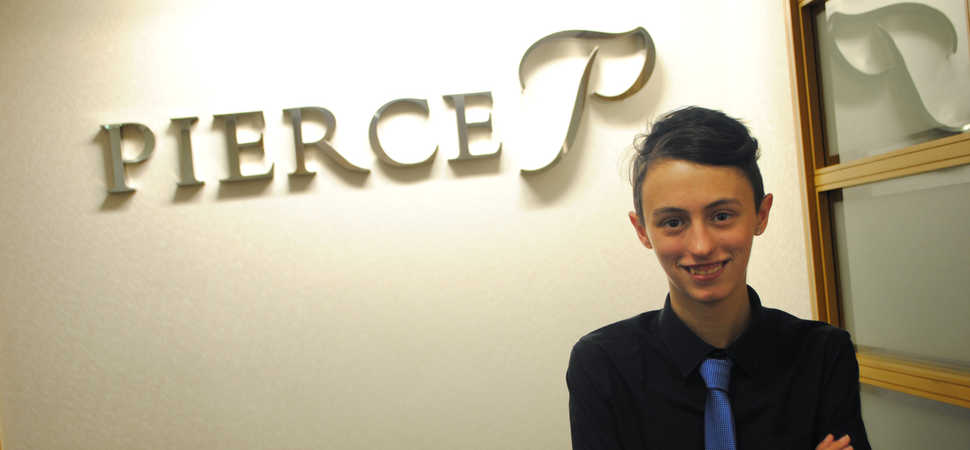 Pierce tells apprentice they're hired