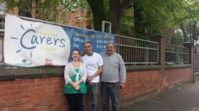 Lee is preparing to go the distance for Trafford Carers Centre