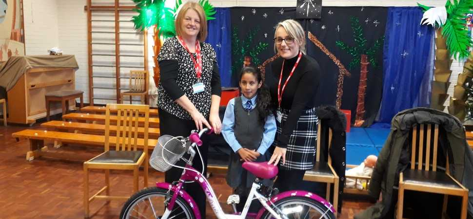 Primary school student bags new bike in competition win