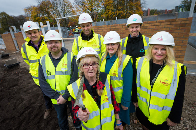 Linden Homes welcomes community group to site of new homes