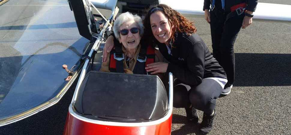 Living the high life  care home organises flying visit for local 100-year-old