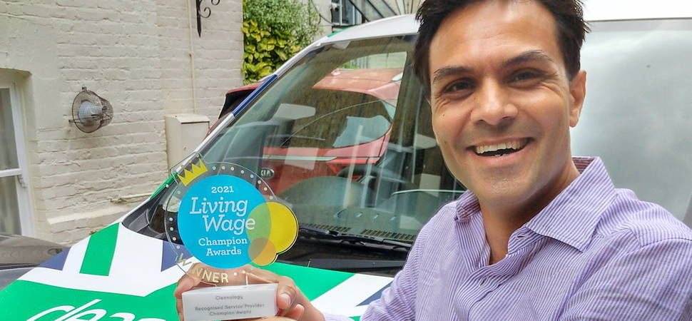 Joy for Cleanology after win at Living Wage Champion Awards
