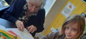Down to a fine art  local children join Bury St Edmunds care home for the worlds largest drawing festival