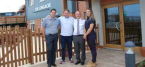 Construction firms celebrate the success of recent pub development