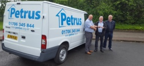 St Helens firm donates old van to homeless charity