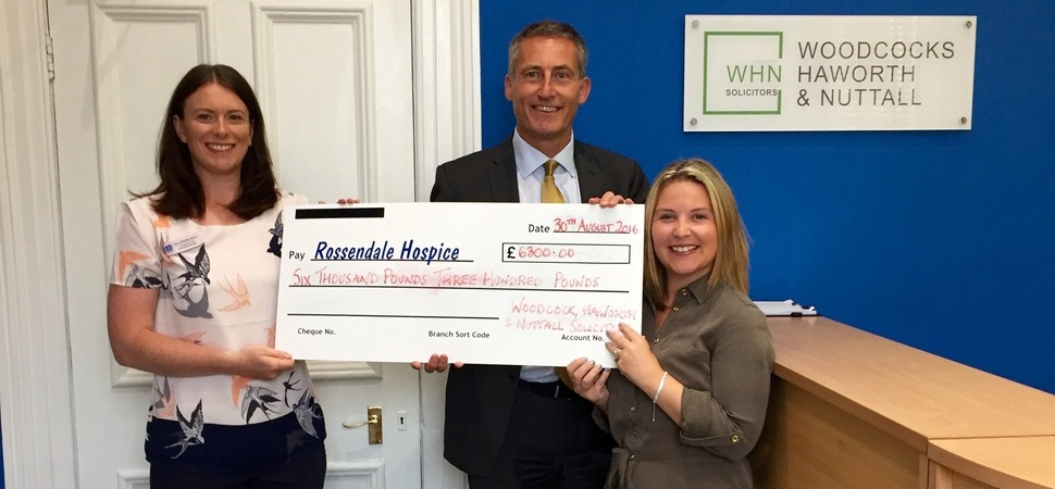 Lancashire-based WHN tees up funds for Rossendale Hospice
