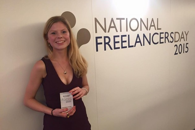 Manchester Copywriter Named Young Freelancer of the Year 2015